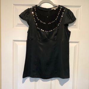 Nanette Lepore Black Silk Blouse